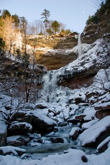 Free Winter Waterfall Stock Photography - 14657022