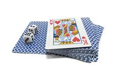 Playing-cards And Bones Royalty Free Stock Photography