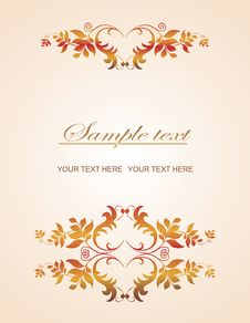 Free Golden Vintage Template Royalty Free Stock Photo - 14657695