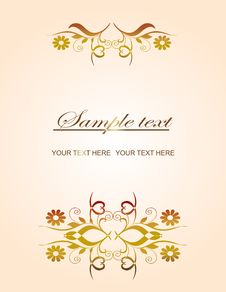 Free Golden Vintage Template Royalty Free Stock Photos - 14657698