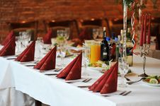Free Table With Food And Drink Royalty Free Stock Photography - 14657897