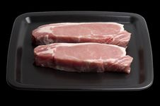 Pork Steaks Stock Photo