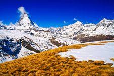 Free Matterhorn Peak Royalty Free Stock Photography - 14658977
