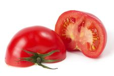 Free Two Halves Of Tomato Royalty Free Stock Photography - 14659427