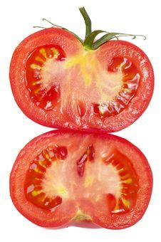 Free Two Halves Of Tomato Royalty Free Stock Photo - 14659435