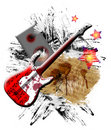 Free Red Guitar Royalty Free Stock Image - 14660836