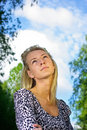 Free Young Woman Dreaming About Future Royalty Free Stock Photos - 14661838
