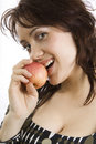 Free Woman Eats An Apple Stock Photography - 14662922