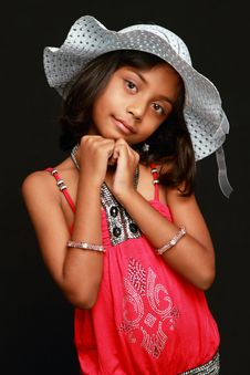 Free Cute Girl In A Hat Royalty Free Stock Images - 14660489