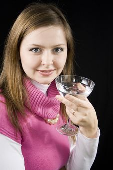Free Woman Drinks Water. Royalty Free Stock Photos - 14660698