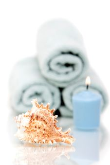 Free Seashell And Candle Royalty Free Stock Photo - 14660835
