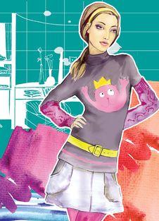 Free Fashion Girl Stock Image - 14661041