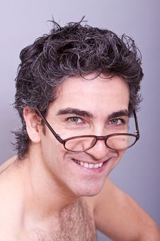 Free Man In Eyeglasses Smiling Stock Images - 14661104