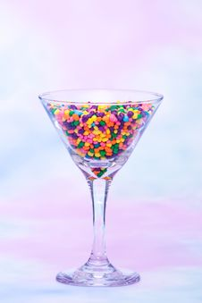 Free Martini Glass Filled With Candy Royalty Free Stock Photo - 14661175