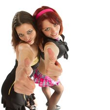 Free Two Young Models Dancing Royalty Free Stock Photo - 14661515