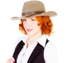 Free Redhead Girl In Hat Royalty Free Stock Images - 14661829