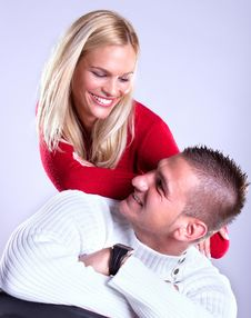Free Happy Young Loving Couple  Smile Royalty Free Stock Photography - 14662427