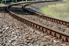 Free Turning Railway Line Stock Image - 14662781