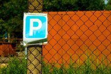 Free Parking Lot Sign Royalty Free Stock Photos - 14662828