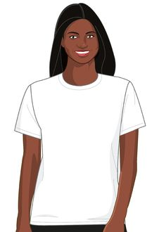 Free Blank White T-shirt Model Woman 2 Royalty Free Stock Image - 14662936