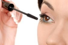 Free Applying Mascara Using Lash Brush Stock Photography - 14663102