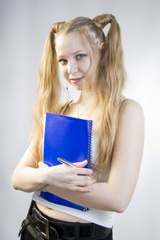 Free Schoolgirl. Senior Pupil. Royalty Free Stock Photo - 14663275