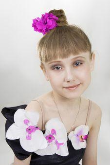 Free Little Girl Dancer. Stock Image - 14663441