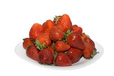 Free Strawberry On A Plate Royalty Free Stock Photos - 14663728