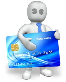 Free A Man With A Big Credit Card Royalty Free Stock Image - 14663846