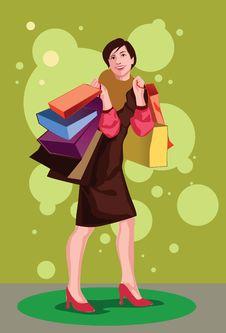 Free The Shopaholic Stock Image - 14665621