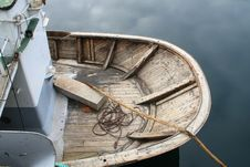 Breech Of Boat In The Abandoned Harbour Of Nyksund Royalty Free Stock Photo