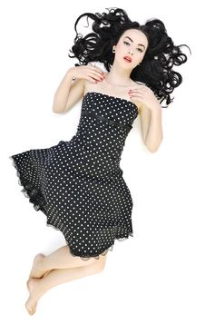 Pinup Fashion Royalty Free Stock Photography