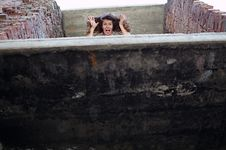 Free Frightened Girl Stock Photography - 14666972