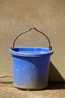 Free Blue Bucket Stock Photography - 14667242