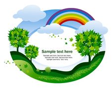 Abstract Background With Rainbow Royalty Free Stock Image