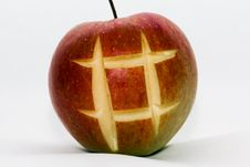 Free Apple With The Cut Out Lattice Stock Image - 14667521