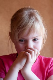 Free Thoughtful Little Girl Royalty Free Stock Image - 14668516