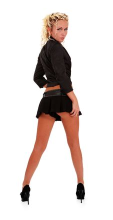 Free Woman On Black Stock Image - 14668521