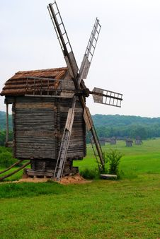 Free Old Wind Mill Royalty Free Stock Photography - 14669017