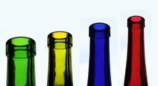 Free Four Coloured Bottles Royalty Free Stock Image - 14669286