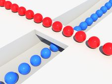Free Balls Queue Stock Images - 14669774