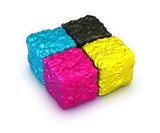 Free Color Cubes, Cmyk Palette Stock Photos - 14669973