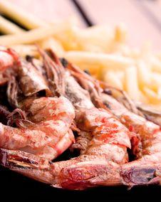 Free Prawn Meal Stock Image - 14669991