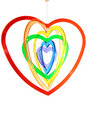 Free Six Multi Coloured Heart Shapes Hanging Stock Photos - 14675123