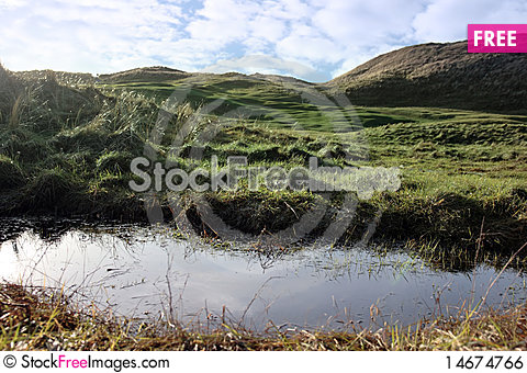 Free Golf Course Water Trap Royalty Free Stock Image - 14674766