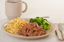 Beef Tips Meal Stock Photography