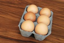 Free Six Eggs Royalty Free Stock Photography - 14670057