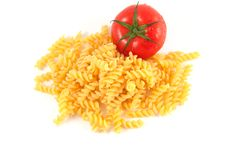 Free Fusilli And Tomatoes Royalty Free Stock Images - 14670449