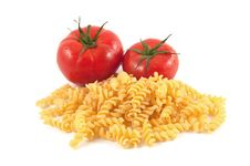 Free Fusilli And Tomatoes Royalty Free Stock Photography - 14670457