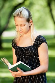 Free Girl With Book Stock Photo - 14670540